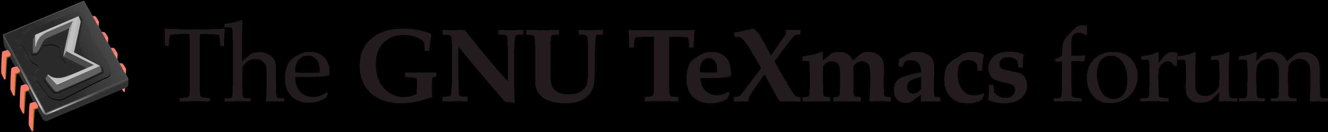 GNU TeXmacs Forum